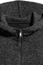 Knitted fleece jacket - Dark grey marl - Kids | H&M 3