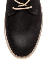 Derby shoes - Black/Beige - Men | H&M 3