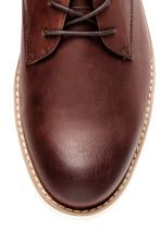 Derby shoes - Dark cognac brown - Men | H&M 4