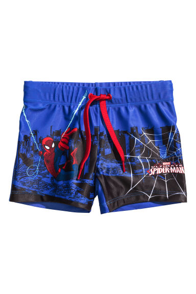 圖案泳褲 - Cornflower blue/Spiderman -  | H&M 1