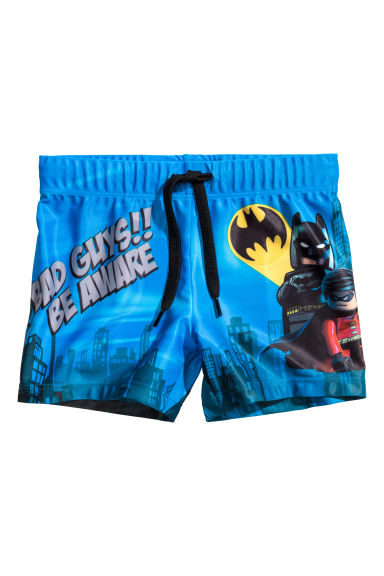 Printed swimming trunks - Blue/Lego -  | H&M 1