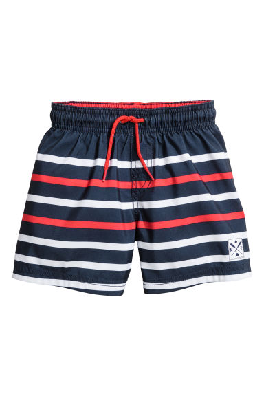Swim shorts - Dark blue/Red - Kids | H&M