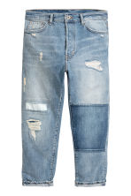 Straight Cropped Jeans - Light denim blue - Men | H&M 2