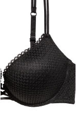 Super push-up lace bra - Black - Ladies | H&M 3