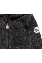 Knitted fleece jacket - Black marl - Kids | H&M CN 3