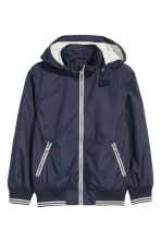 Jersey-lined nylon jacket - Dark blue - Kids | H&M CN 2