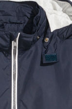 Jersey-lined nylon jacket - Dark blue - Kids | H&M 3