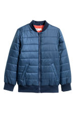 Padded bomber jacket - Dark blue - Kids | H&M 2