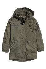 Cotton parka - Khaki green - Kids | H&M CN 2
