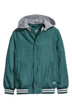 Lined nylon jacket - Petrol -  | H&M 2