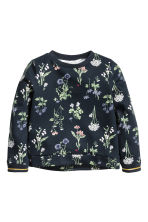 Sweatshirt - Dark blue/Floral - Kids | H&M GB 2