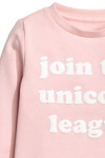 Sweatshirt - Light pink - Kids | H&M 3