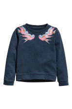 Sweatshirt - Dark blue - Kids | H&M GB 2
