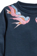 Sweatshirt - Dark blue - Kids | H&M GB 3