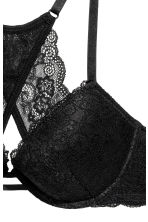 Push-up bra with a lace back - Black - Ladies | H&M CN 3