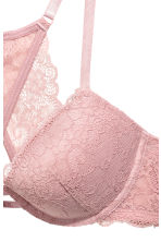 Push-up bra with a lace back - Vintage pink - Ladies | H&M CN 3