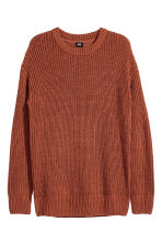 Rib-knit jumper - Rust - Men | H&M 2