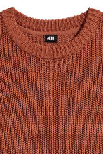 Rib-knit jumper - Rust - Men | H&M 3