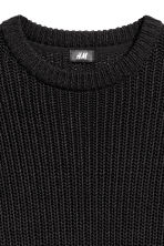 Rib-knit jumper - Black - Men | H&M 3