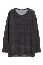Fine-knit jumper - Black marl - Men | H&M 2