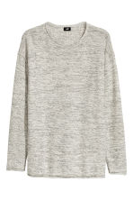Fine-knit jumper - Natural white marl - Men | H&M 2