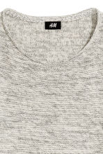 Fine-knit jumper - Natural white marl - Men | H&M 3