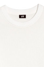 Textured cotton jumper - White - Men | H&M CN 3