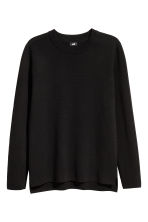 Fine-knit cotton jumper - Black - Men | H&M CN 2