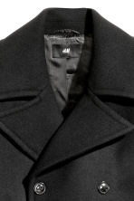 Wool-blend pea coat - Black - Men | H&M 3