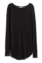 Airy jersey top - Black - Ladies | H&M 2