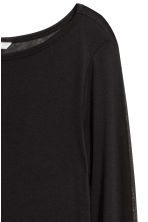 Airy jersey top - Black - Ladies | H&M 3