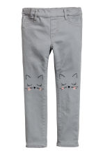 Embroidered treggings - Grey - Kids | H&M 2