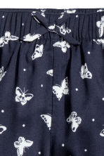 Patterned pull-on trousers - Dark blue/Butterflies - Kids | H&M CN 3