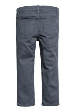 Twill trousers with embroidery - Blue-grey - Kids | H&M 3