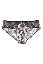 Microfibre hipster briefs - Powder pink/Floral - Ladies | H&M 2