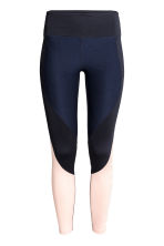 Sports tights - Dark blue/Powder - Ladies | H&M CN 2