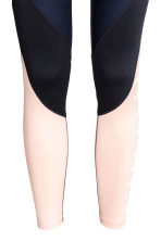 Sports tights - Dark blue/Powder - Ladies | H&M 3