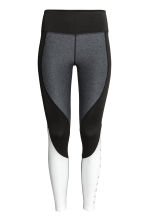 Sports tights - Grey/Black/White - Ladies | H&M CN 2