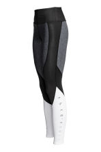 Sports tights - Grey/Black/White - Ladies | H&M CN 3