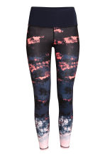 Yoga tights - Coral/Patterned -  | H&M 2