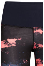 Yoga tights - Coral/Patterned -  | H&M 4