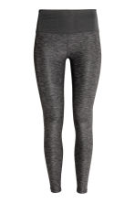 Yoga tights - Dark grey marl - Ladies | H&M CN 2