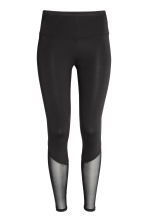Yoga tights - Black/Mesh - Ladies | H&M GB 2