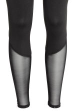 Yoga tights - Black/Mesh - Ladies | H&M CN 3