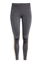 Running tights - Dark grey/Powder - Ladies | H&M CN 2