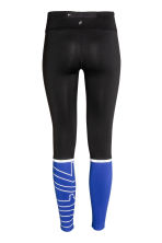 Running tights - Black/Blue - Ladies | H&M CN 3
