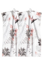 2-pack guest towels - White/Floral - Home All | H&M CN 1