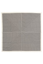 Large scarf - White/Black striped - Ladies | H&M 2