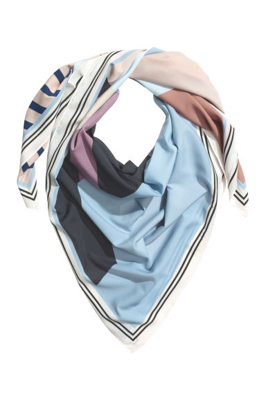 Large scarf - Light blue - Ladies | H&M CN 1