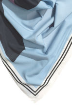 Large scarf - Light blue - Ladies | H&M CN 3